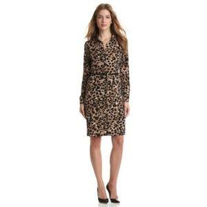 NWOT Anne Klein animal Print Belted Dress